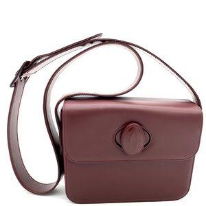 Cartier Must De Cartier Burgundy Shoulder Bag